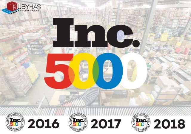 Ruby Has Ecommerce Fulfillment Selected by Inc. 5000 Fastest Growing Companies for Third Consecutive Year