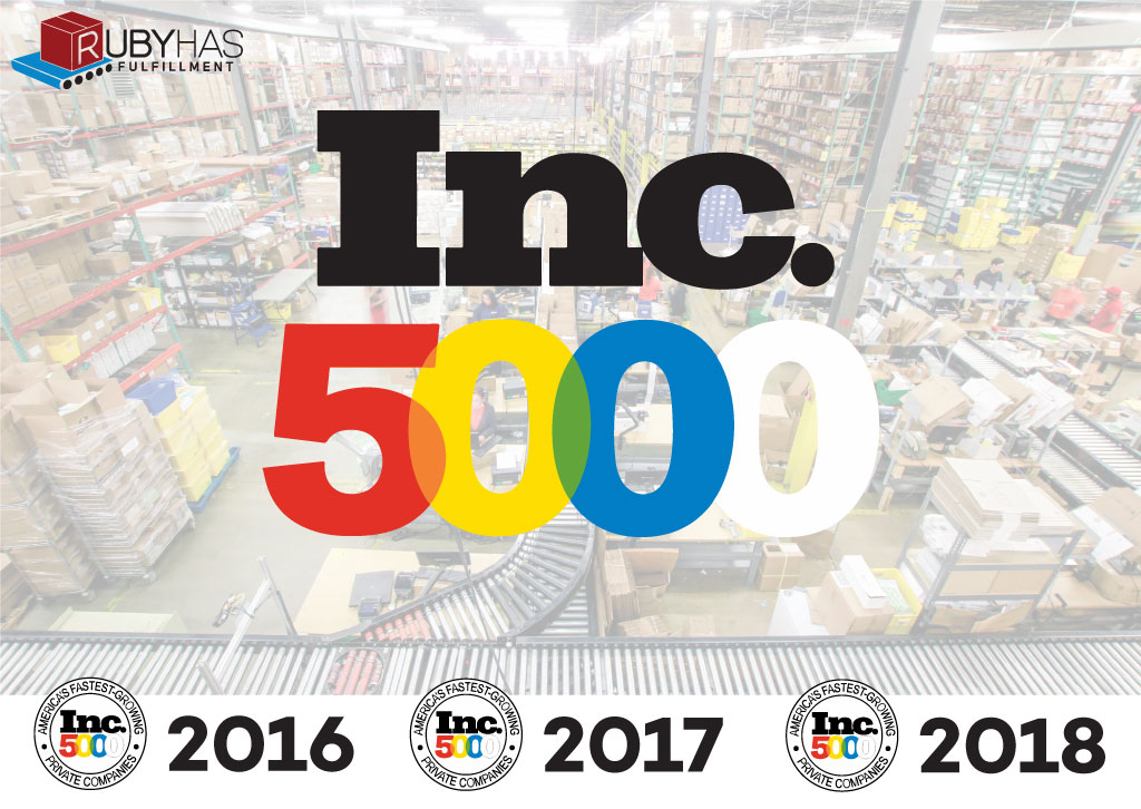 Ruby Has Ecommerce Fulfillment Selected By Inc 5000 Fastest Growing Companies For Third Consecutive Year Ruby Has