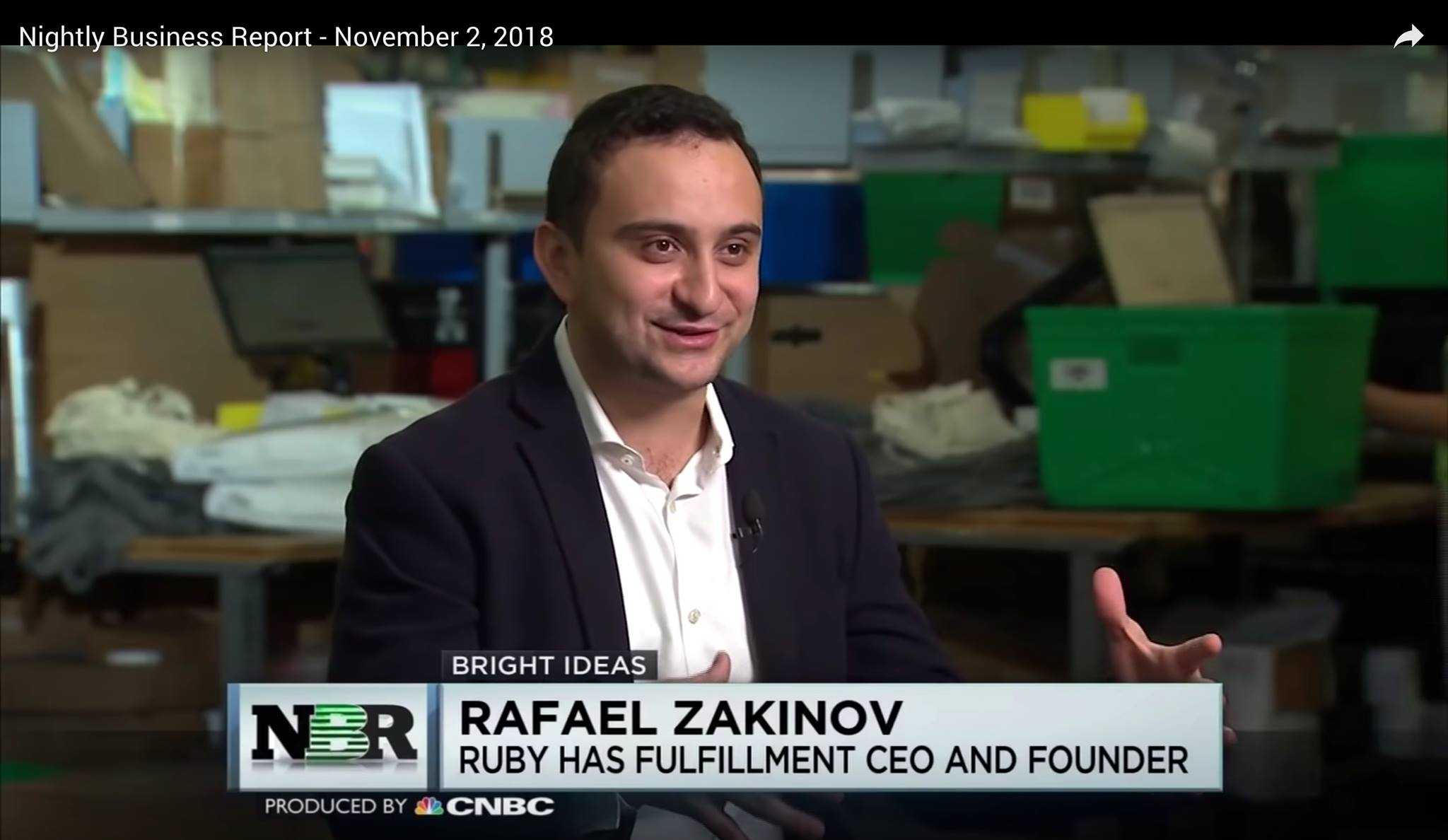 Rafael Zakinov CNBC Nightly Business Report 1