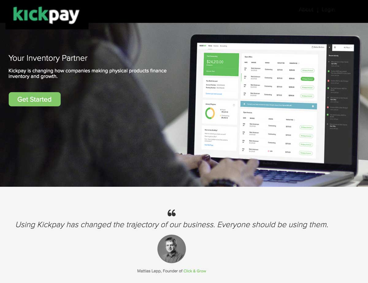 Kickpay Website Homepage Partnerships