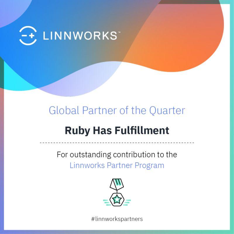 Linnworks Names Ruby Has Partner of the Quarter